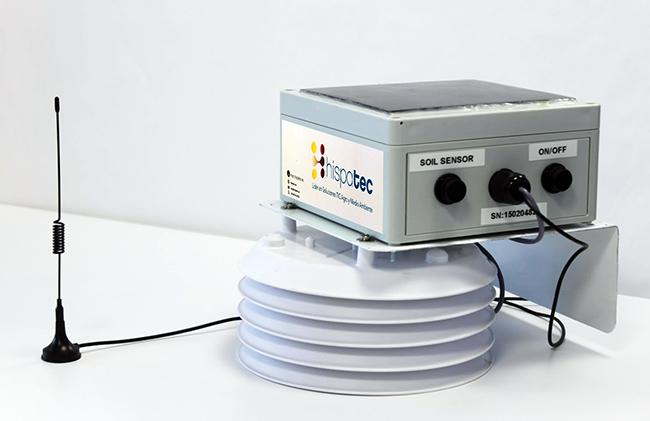 Unidad central de proceso de datos extraídos de los sensores. ¡Y funciona con energía solar!