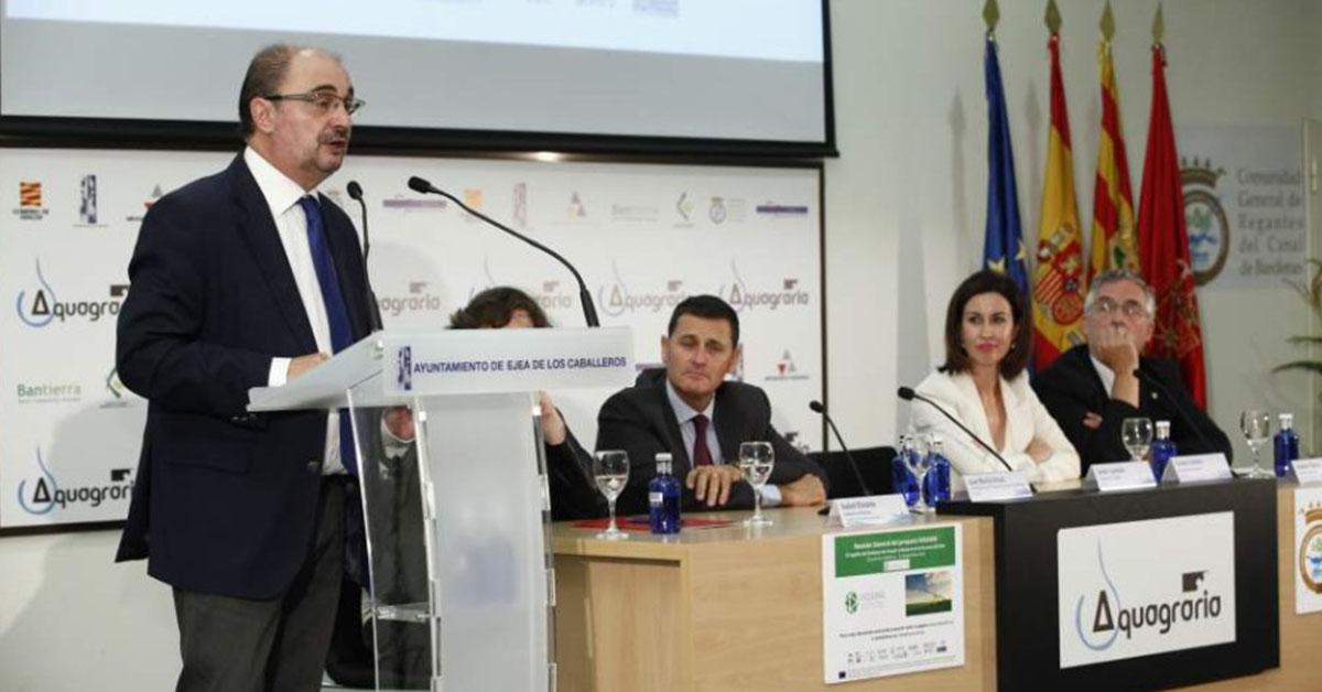 D. Javier Lambán Montañés, Presidente del Gobierno de Aragón atendió a los avances de WEAM4i