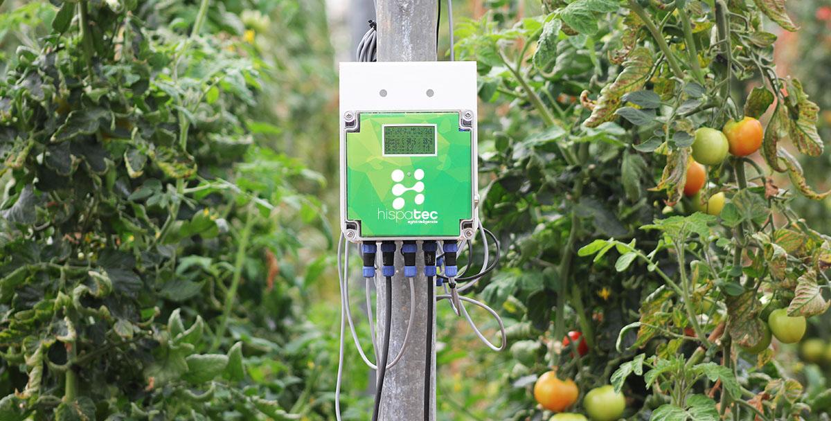 Unidad central de Hortisys. A ella se conectan los sensores directamente o bien otras unidades auxiliares por Bluethoot.
