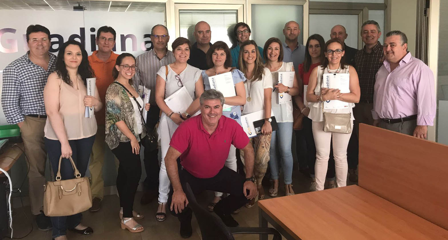 Participantes en el evento en Mérida junto a Infoguadiana