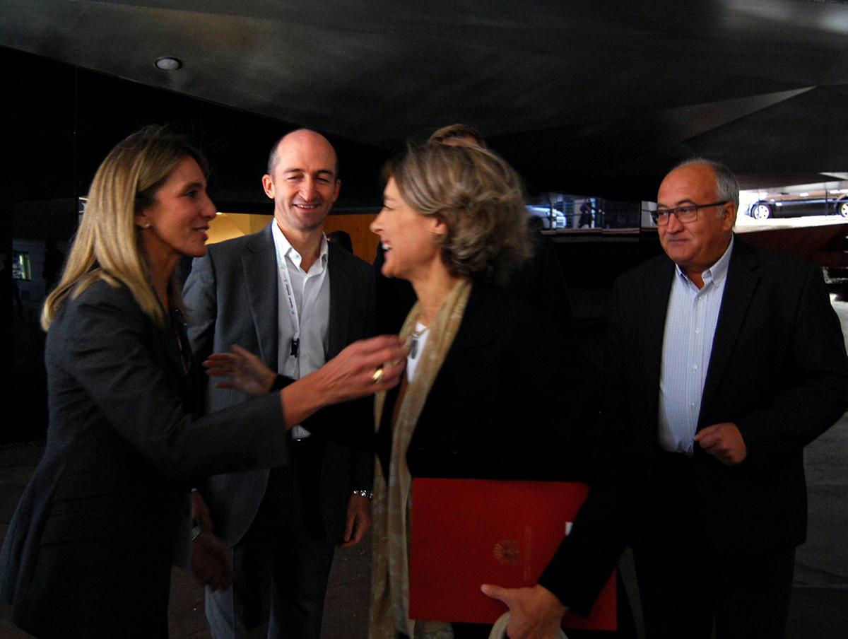Isabel García Tejerina llegando a Agridata Summit - Hispatec