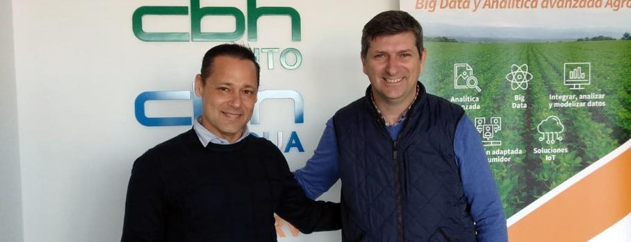 Juan Manuel Machado, Dtor. Financiero de CBH y Francisco Acosta, de Texla Control.