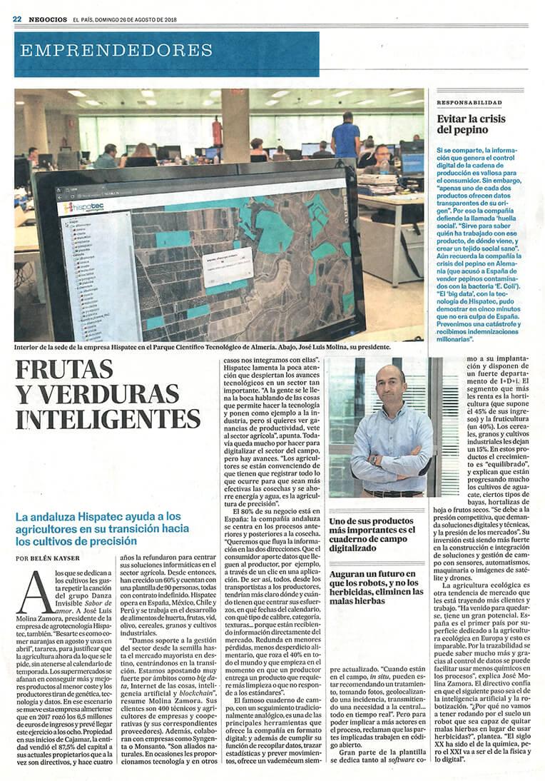 Hispatec en El País Negocios