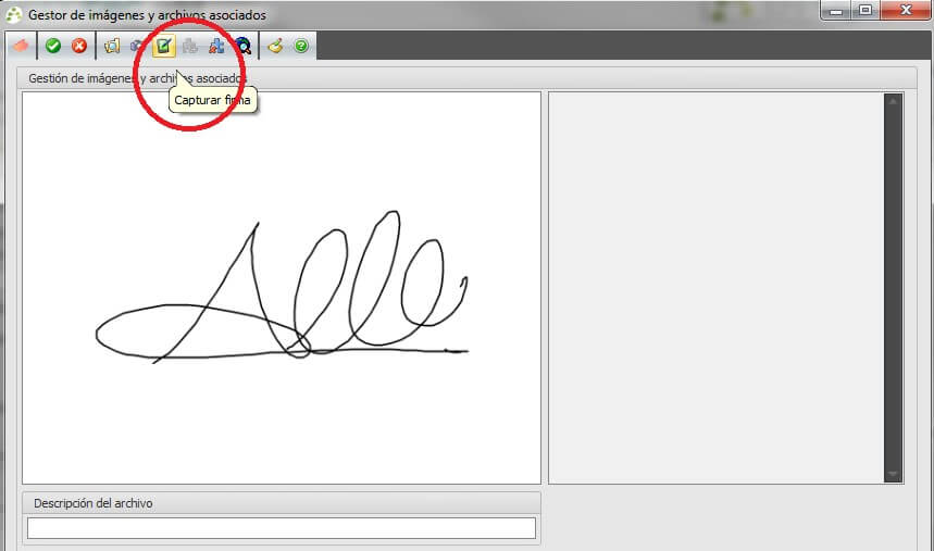 Captura de Firma mediante Tabletas Digitalizadoras